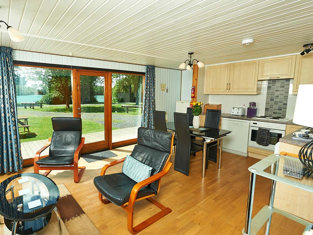Beech Lodge Living Area & Kitchen