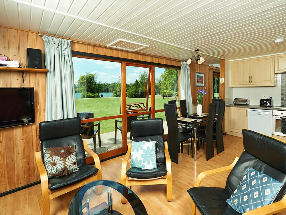 Rowan Lodge Living Area York Lakeside Lodges