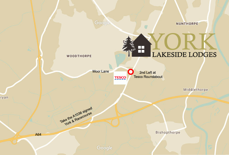 York Lakeside Lodges Map