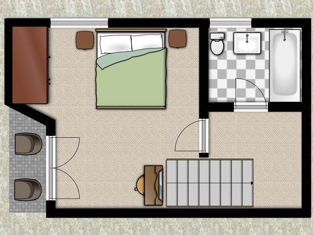 Larch Cottage Floorplan