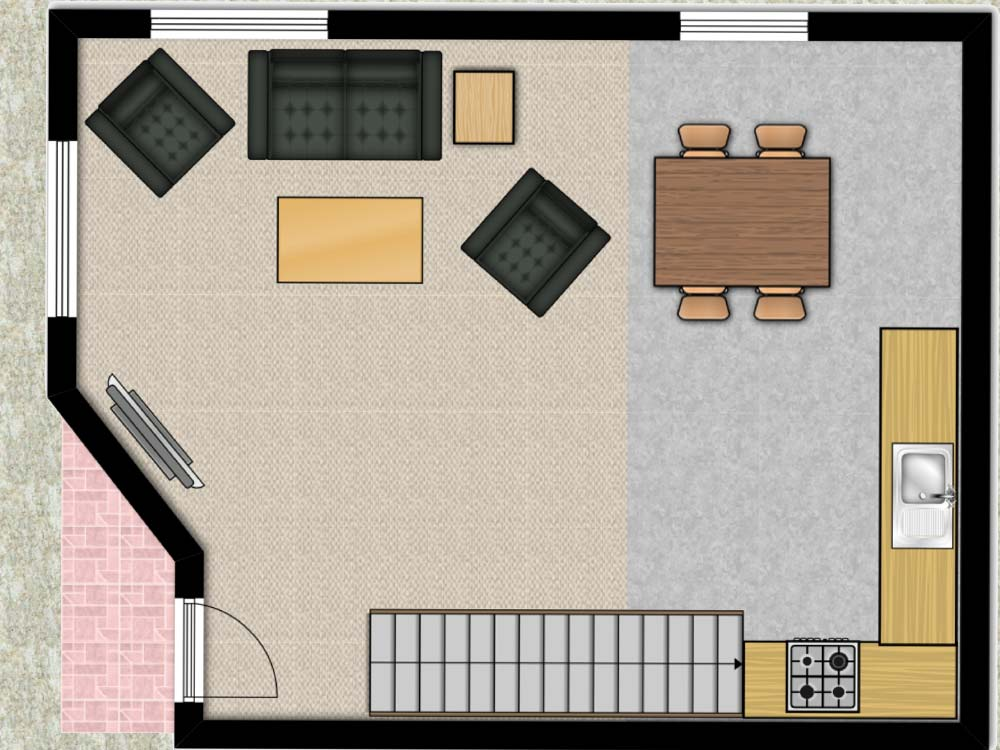 Larch Cottage Floorplan